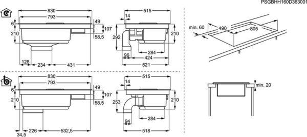 Индукционен плот с абсорбатор AEG IDE84242IB