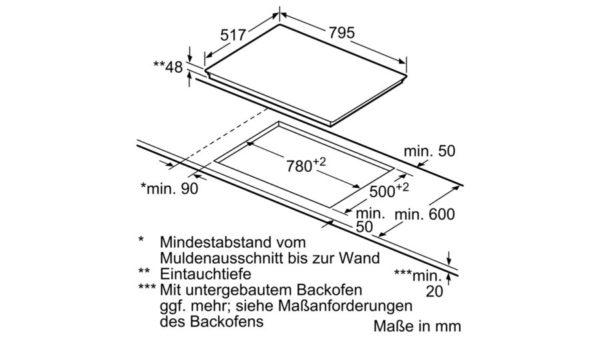 Стъклокерамичен плот за вграждане Bosch PKC845FP1D